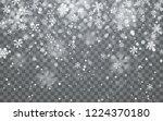 christmas snow. falling... | Shutterstock .eps vector #1224370180