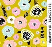 seamless floral pattern.... | Shutterstock .eps vector #1224371386