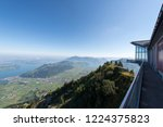 Stanserhorn observation platform on top of Stanserhorn mountain. The Stanserhorn is a mountain in Switzerland, located in the canton of Nidwalden.
