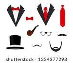 men's jackets. tuxedo with... | Shutterstock .eps vector #1224377293