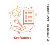 key features concept icon.... | Shutterstock .eps vector #1224380863