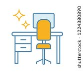 cleaning table desk color icon. ... | Shutterstock .eps vector #1224380890
