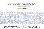 outdoor recreation infographic... | Shutterstock .eps vector #1224390379