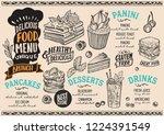 brunch menu template for... | Shutterstock .eps vector #1224391549