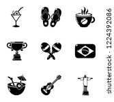 brazil leisure icons set.... | Shutterstock .eps vector #1224392086