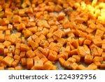 sliced butternut squash... | Shutterstock . vector #1224392956