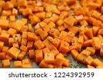 sliced butternut squash... | Shutterstock . vector #1224392959
