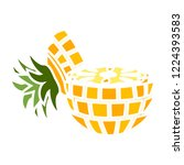vector sliced pineapple icon.... | Shutterstock .eps vector #1224393583