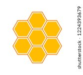 vector honey comb. flat... | Shutterstock .eps vector #1224393679