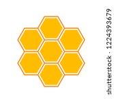 vector honey comb. flat... | Shutterstock .eps vector #1224393679