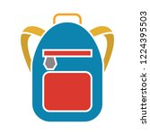 school bag icon. flat... | Shutterstock .eps vector #1224395503