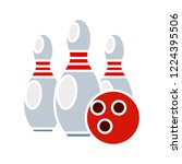 vector bowling icon. flat... | Shutterstock .eps vector #1224395506