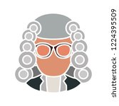 attorney icon. illustration of... | Shutterstock .eps vector #1224395509