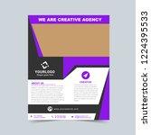 creative agency purple flyer...   Shutterstock .eps vector #1224395533