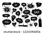set of speech bubbles in hand... | Shutterstock .eps vector #1224396856