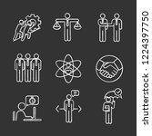 business ethics chalk icons set.... | Shutterstock .eps vector #1224397750