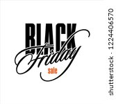 vector black friday with red... | Shutterstock .eps vector #1224406570