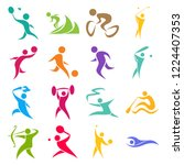 collection of sport... | Shutterstock .eps vector #1224407353