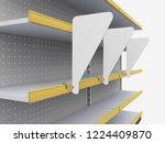 blank white round triangle...   Shutterstock . vector #1224409870