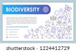 biodiversity advertising web... | Shutterstock .eps vector #1224412729