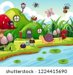 insect in the fairy house... | Shutterstock .eps vector #1224415690