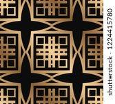 art deco seamless vintage... | Shutterstock .eps vector #1224415780