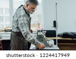side view of mature male tailor ...   Shutterstock . vector #1224417949