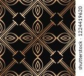 art deco seamless vintage... | Shutterstock .eps vector #1224419620