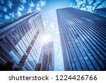 modern office building close up ... | Shutterstock . vector #1224426766