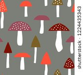 weird mushrooms  amanita... | Shutterstock .eps vector #1224435343