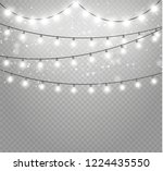 christmas lights isolated... | Shutterstock .eps vector #1224435550