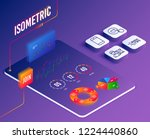 isometric vector. set of like... | Shutterstock .eps vector #1224440860