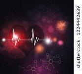 abstract science multicolor... | Shutterstock . vector #1224442639