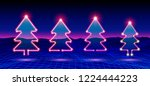 christmas tree icon or element... | Shutterstock .eps vector #1224444223