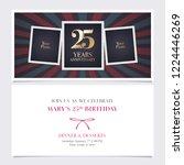 25 years anniversary invitation ... | Shutterstock .eps vector #1224446269