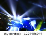 stage lighting effect in the... | Shutterstock . vector #1224456049