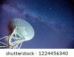radio telescopes and the milky... | Shutterstock . vector #1224456340