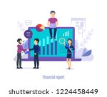 financial report. analysis of... | Shutterstock .eps vector #1224458449