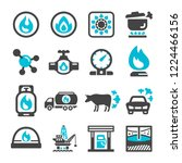 natural gas icon set vector and ... | Shutterstock .eps vector #1224466156
