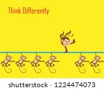 think differently   being... | Shutterstock .eps vector #1224474073