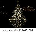 christmas tree from light...   Shutterstock .eps vector #1224481309