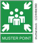 muster point    exit and... | Shutterstock .eps vector #1224486580