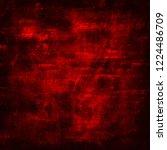 grunge red background texture | Shutterstock . vector #1224486709