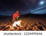 while looking for meteorites at ... | Shutterstock . vector #1224495646