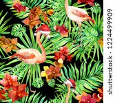 new year  christmas in tropic   ... | Shutterstock . vector #1224499909
