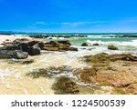 coastline of the sea rocky...   Shutterstock . vector #1224500539