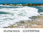 coastline of the sea rocky...   Shutterstock . vector #1224500566