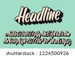 headline lettering alphabet.... | Shutterstock .eps vector #1224500926