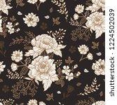 seamless floral pattern.... | Shutterstock .eps vector #1224502039