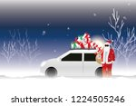 vector santa claus and his...   Shutterstock .eps vector #1224505246